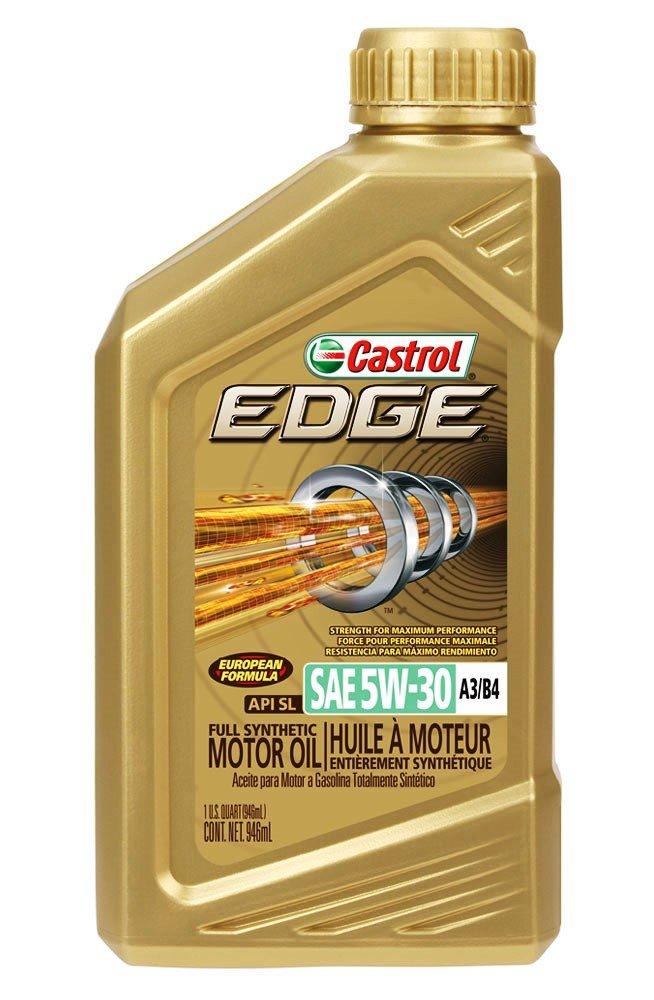 Castrol - 15484E EDGE 5W-30 A3/B4 Advanced Full Synthetic Motor Oil, 1 quart, Gold