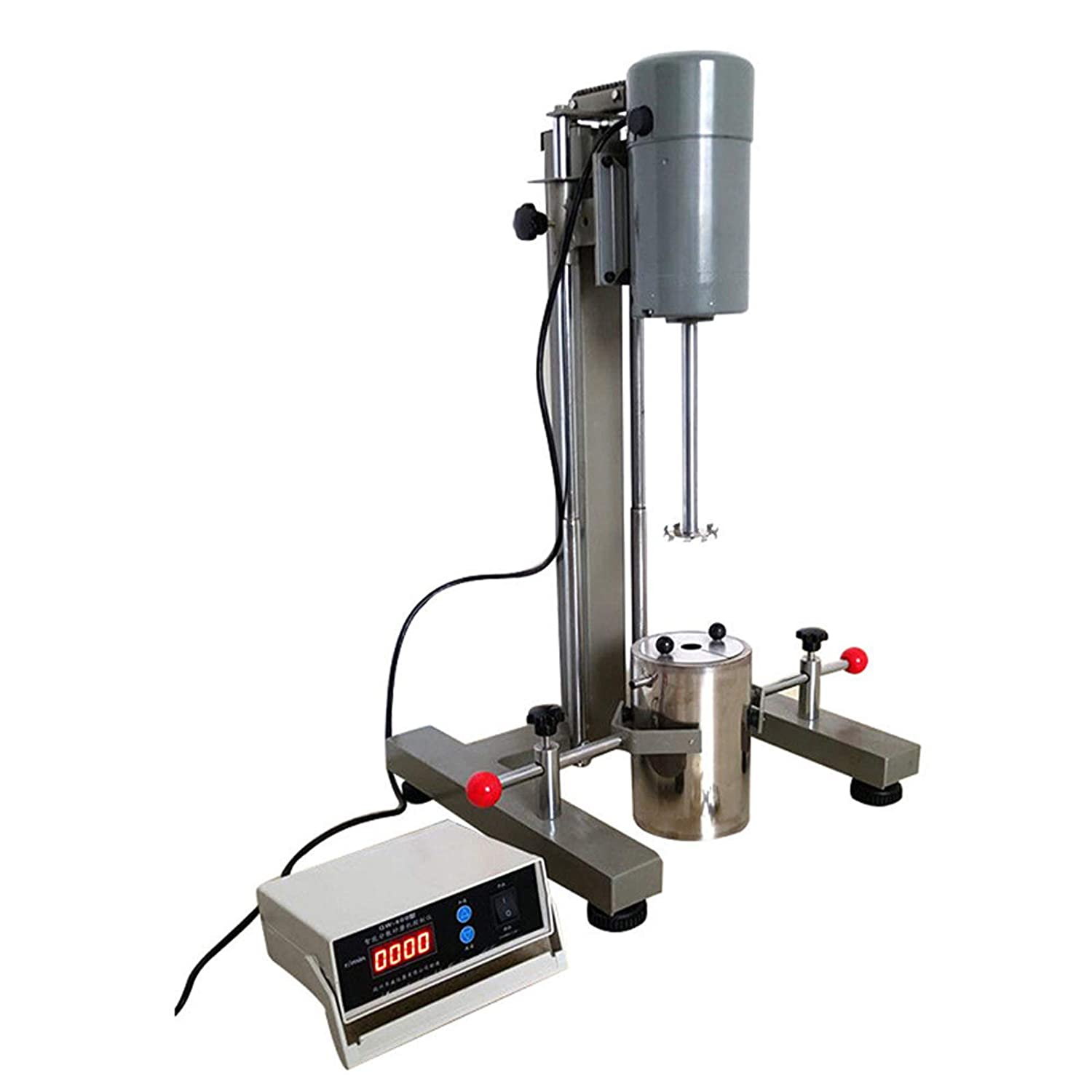 110V Digital Display High-Speed Homogenizer in Accordance with American Standards Dispenser Aspirator Agitator High Homogenizer Speed Dispersion Intuitive Readings Laboratory Mixer