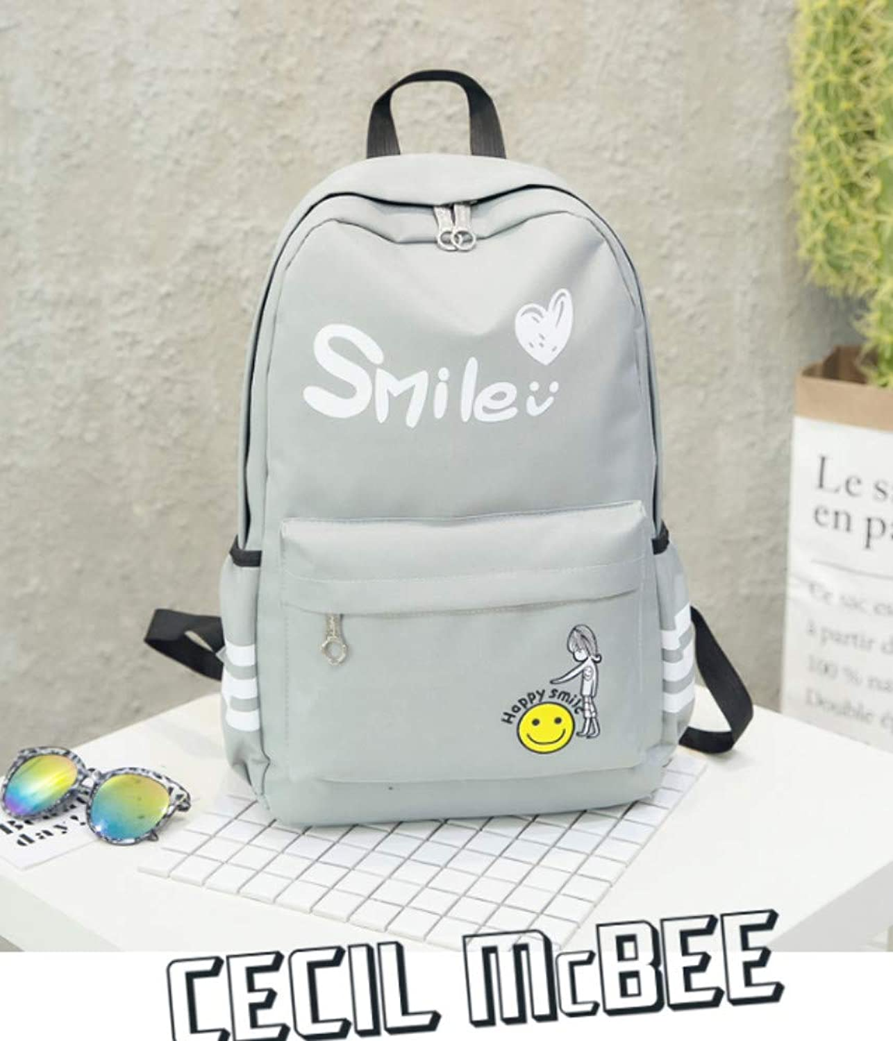 Backpack Men's Shoulder Bag Fashion Trend Hip hop Street Europe and America Wild Personality Computer Bag
