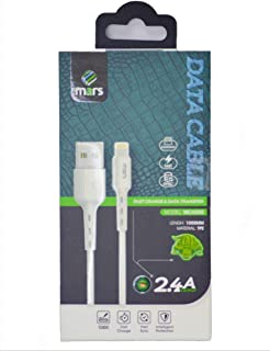 mars USB to Lighting Charging, Fast charging cable 2.4A, Durable Anti-tangle, Quick Data Cable (1Meter), fast charging for...