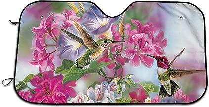 CHILL·TEK Hummingbirds Universal Car Windshield Sun Shade Interior Protector Block Sun Heat Size 51.2x27.5 Inch