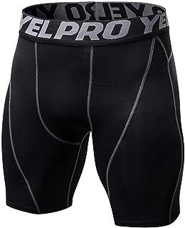 Mens Shorts Leggings Quick Dry Slim Training Shorts Elastic Compression Shorts for Gym Fitness sports