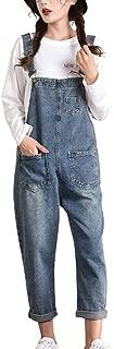Women's Loose Baggy Denim Bib Overalls Jumpsuit Harem Pants