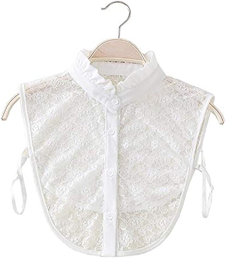 Los Angeles Mall LANGUGU Women's Stylish Detachable Half Shirt Blouse Chiffon Classic Fal