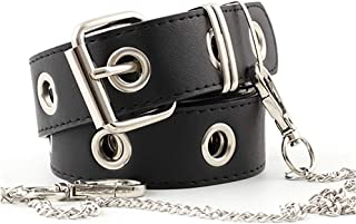Cinturón De Jeans Para Mujer Moda Hollow Punk Estilo Pantalones Cinturón Con Cadena