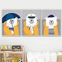 30x40cmx3 pcs sans Cadre MYSY Dessin anim/é Voiture Affiches animales Impressions Mur Art Toile Peinture Photos b/éb/é Chambre Enfants d/écor