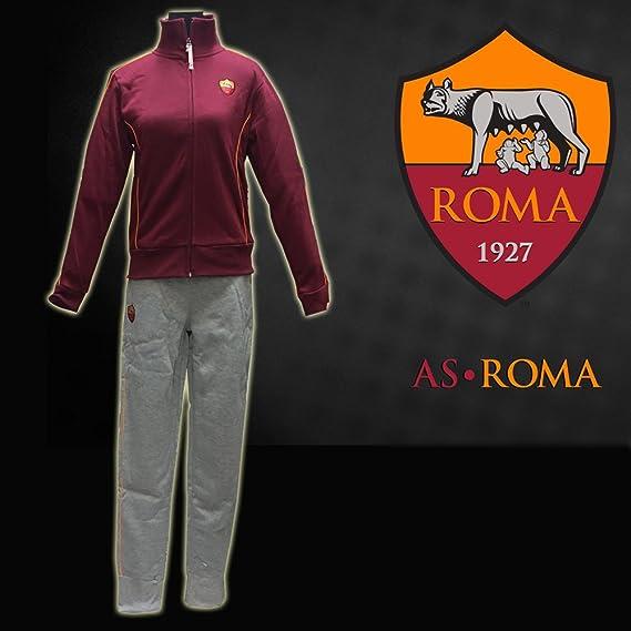 AS Roma Tuta Tracksuit Ufficiale Caldo Cotone Donna Lady (S Grigia ...