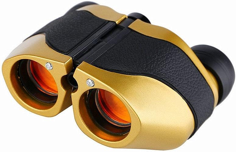 Jumelles imperméables haute puissance HD, Télescope tenu dans la main de jumelles portatives de lumière de focale légère de 8x21 HD pour l'usage extérieur Observation des oiseaux, chasse, football