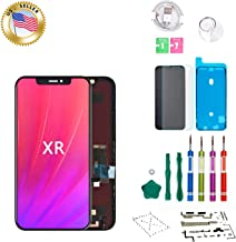 Screenmaster Screen Replacement for iPhone XR LCD Digitizer Screen Replacement 6.1 Inch Retina Display Frame Assembly with Complete Repair Tool Kit