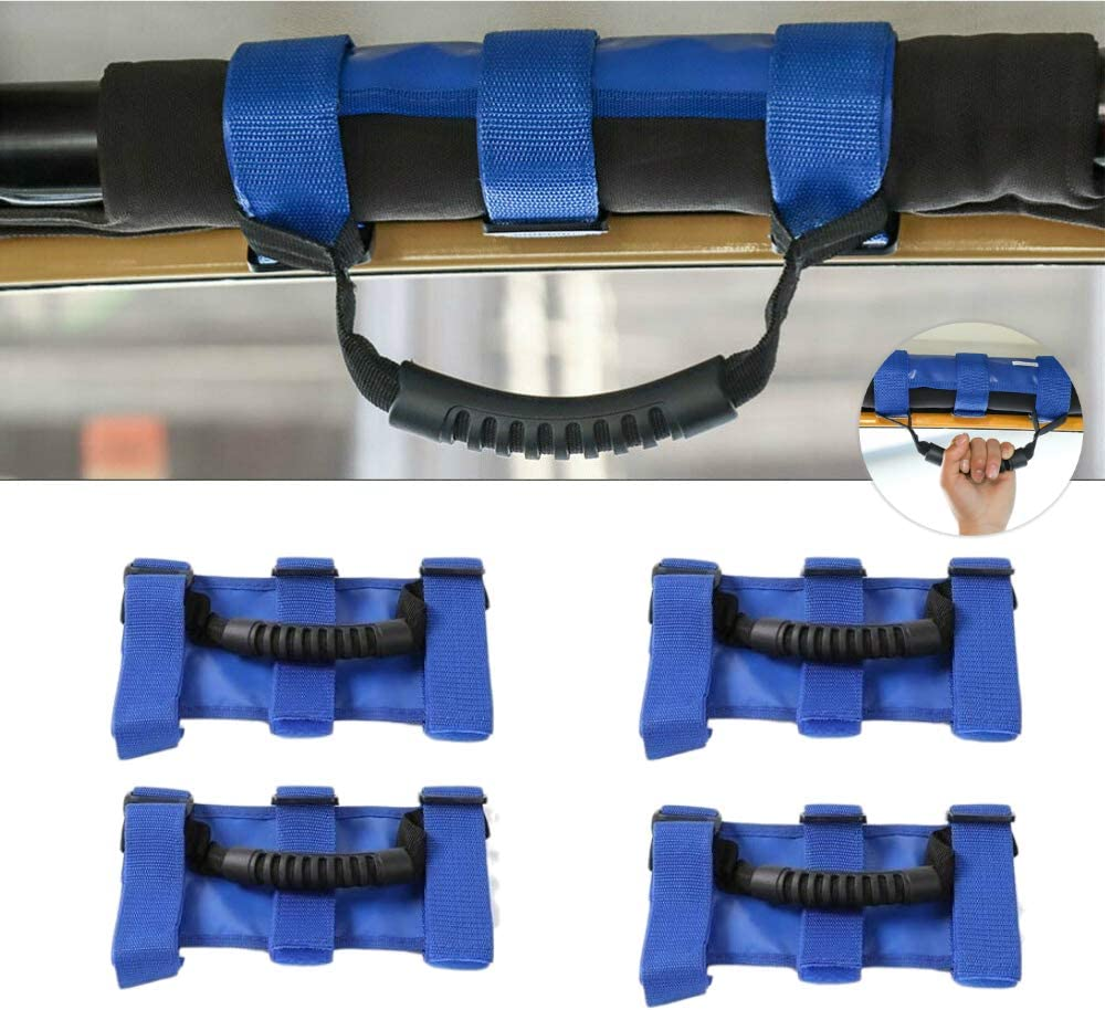 4 x Heavy Duty Roll Bar Grab Straps Handles J Grip Ranking TOP18 for Direct sale of manufacturer 3 Handle