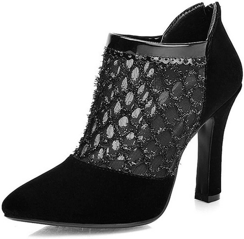 BalaMasa Ladies Slip-On High-Heels Solid Mesh Pumps-shoes