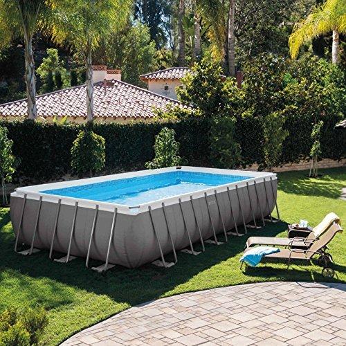 Intex - Set piscina Ultra Metal 732 x 366 x 132