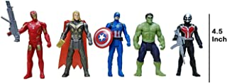 IYAAN Avengers Toys Set of Captain America, Ironman, Hulk, Ant-Man and Thor Infinity War 5 Action Hero Collection (Multicolour, 4.5 Inch)