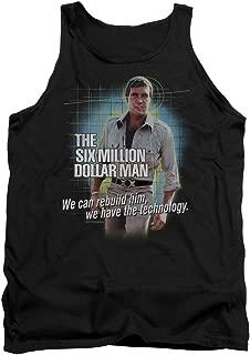 Six Million Dollar Man Technology Unisex Adult Tank Top for Men and Women
