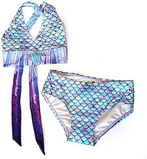 Mermaid Swimsuit - Girls Bikini Set - Matching Scale Colors