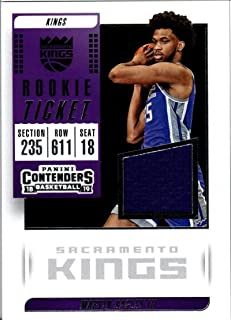 2018-19 Panini Contenders Rookie Ticket Swatch #19 Marvin Bagley III RC Jersey Game Used Sacramento Kings NBA Basketball Trading Card