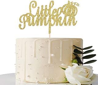 Gold Glitter Little Pumpkin Cake Topper - Thanksgiving/Halloween Party Decoration - Thanksgiving/Halloween Home Decoration