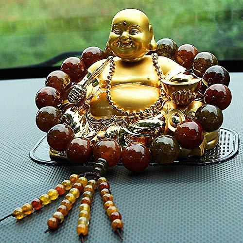 TELMU Handwerk Büro Dekoration Auto Exquisite kreative Parfüm Maitreya Buddha Redwood Perlen Sitz