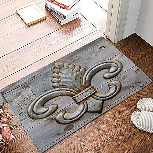 Amanda Walter Alfombrilla Antideslizante para Puerta con diseño de País Vasco y Quebec, Cocina, baño, Entrada, alfombras para Patio y Puerta de Entrada, 19.5