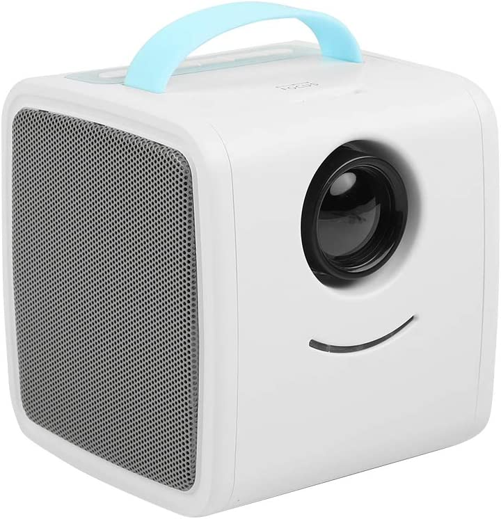 Eboxer Mini Projector for Kids, Portable LED Video Projector, 30000 Hours Multimedia Home Theater Support HD 1080P, HDMI, AV, USB, and TF for TV Box, Laptop, Desktop Computer, Digital Camera(Blue)