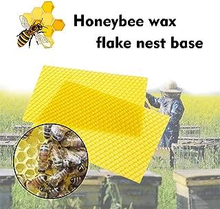 Honeycomb Bee Wax Foundation, 30 Pcs Bee Honey Sheets Beehive Wax Foundation Beekeeping Equipment Bee Comb Honey Frame Base Sheets for Beekeeping Apiculture Bee Culture (Yellow)