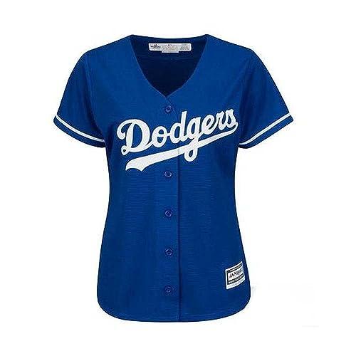 Majestic Los Angeles Dodgers Womens Jersey Blue (Medium) 54d23c29411