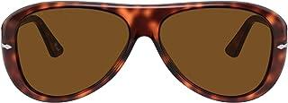 نظارة بيرسول للرجال PO3260S هافانا بني مع تصميم بولار جرين