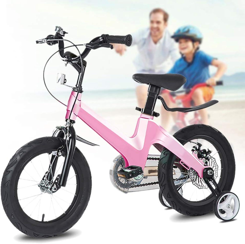 nuevo listado Q&J Bicicleta para Niños de Altura Ajustable de aleación aleación aleación de magnesio Bicicleta para Niños con Freno de Montaña, Manillar y Silla de Montar Ajustable en Altura, Ruedas de Apoyo extraíbles  diseño único