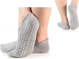 2 Pares Antideslizantes Calcetines para Mujer, Antideslizantes Calcetines para Yoga, Fitness, Gimnasio, Pilates, Danza, Ballet