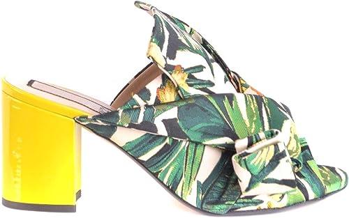 N°21 Damen MCBI35036 Multicolour Satin Absatzschuhe