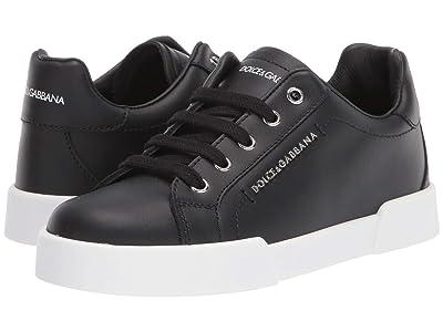 Dolce & Gabbana Kids Sneaker Lettering Vit.Nappato (Little Kid/Big Kid) Boy