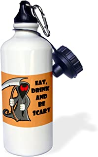 3dRose Eat, Drink and be Scary. Halloween Funny Quotes. Popular Saying. -Sports Water Bottle, 21oz (wb_218445_1), Multicol...