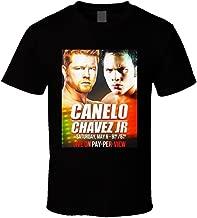 Saul Canelo Alvarez Vs Julio Cesar Chavez JR May 6th Fight Poster Boxing T Shirt M Black