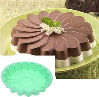 EORTA Silicone Large Cake Mold Flower Shaped Round Cake Baking Pan Nonstick Brownie/Cheesecake/Tart/Pie/Flan/Bread Baking ...