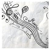 Themenparty Musica, Tovaglioli per feste a tema di musica