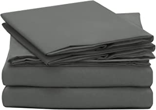 Cok King Size Bed Sheets Set 4 Piece Sheets Set King Gray, Premium Soft and Comfortable Bed Sheets with 14 Inch Deep Pocket - Breathable & Cooling, Wrinkle Resistant Sheets - 4pcs (King, Grey)