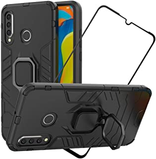 2ndSpring Case for Huawei P30 Lite + Tempered Glass Screen Protector,Hybrid Heavy Duty Protection Shockproof Defender Kick...