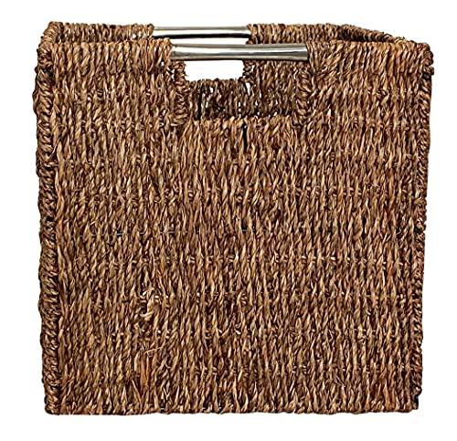 KMH®, Praktischer Schrankkorb Melina aus geflochtenem Seegras - Geflechtfarbe: braun (#204043)