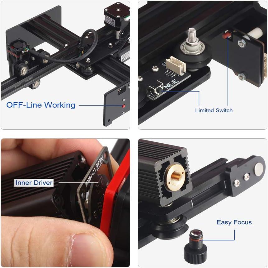 Baugger 20 Watt Desktop Laserengraver Tragbare Gravur Carving Maschine Mini Carver Diy Laser Logo Mark Drucker f/ür Metallgravur und Deep Wood Gravur und Schnelles Schneiden