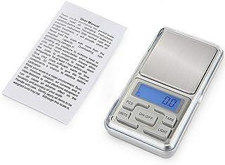 Nrew Mini básculas Digitales portátiles de precisión para Oro Bijoux Sterling Silver Scale Silver 500G / 0.01G