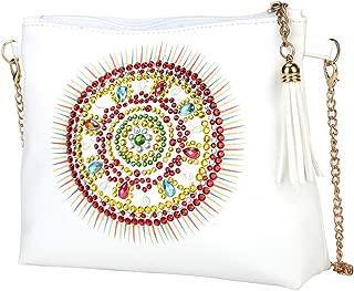 DIY 5D Diamond Painting Flower Crossbody Bag, ZSYUNI Special Shaped Drill Cross Stitch Handbag Purse Tote Shoulder Bag Embroidery Kit Leather for Girl Women Adults Art Craft Decor