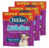 Bil-Jac 840235168621 Little Jacs Small Dog Liver Treats (3 Pack), 16 oz