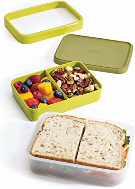 Joseph Joseph GoEat Compact 2-in-1 Lunch Box, Green