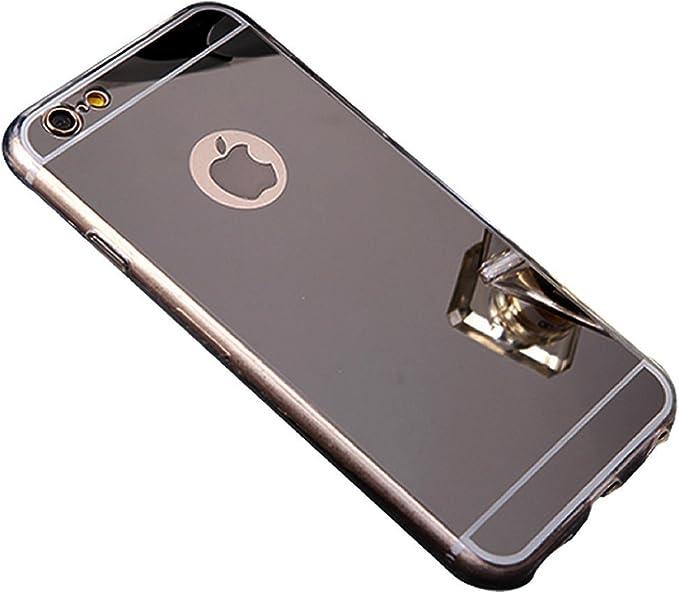 BLLQ Compatible with iPhone 6 Plus Cover Mirror Design, iPhone 6S Plus Case Mirror, Slim Light Soft TPU Gel Shiny Mirror Case Compatible with Apple ...