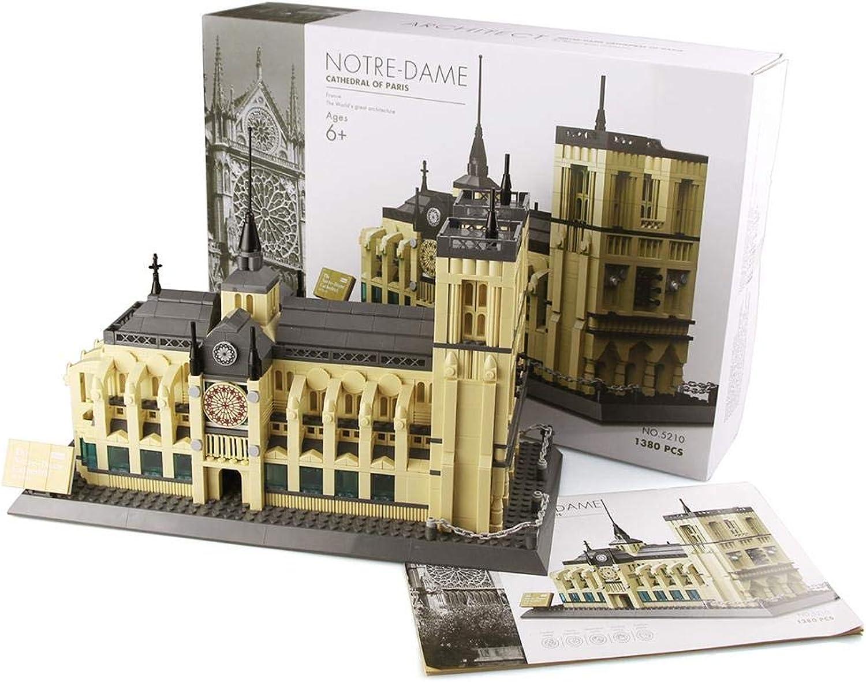 promociones Puzle 3D de madera madera madera de Notre Dame de París. Puzle de montaje de madera 3D para Niños y adultos. La tecnología Easy Click significa que las piezas encajan B  popular