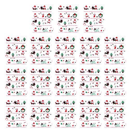 Kisangel 50Pcs Bolsa de Dulces de Celofán de Navidad Bolsas de Galletas Autoadhesivas Transparentes Bolsa de Almacenamiento para Navidad Fiesta de Vacaciones de Invierno Panadería Galletas