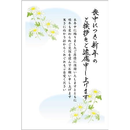 《官製 10枚》喪中はがき(野路菊柄)(No.817)《63円切手付ハガキ/胡蝶蘭切手/裏面印刷済み》