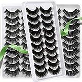 False Lashes Wispy Mink Short Natural Thick Eyelashes 30 Pairs 3 Styles Wholesale 3D Reusable Strip Fake Lashes Pack by HeyAlice