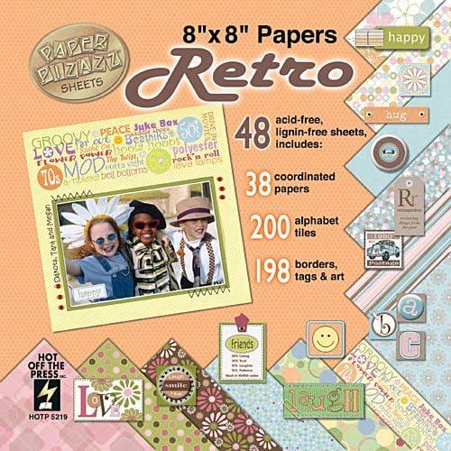 "New HOTP 5205 Scrapbooking Paper Pizzazz Sheets 8/"" x 8/"" Wedding"