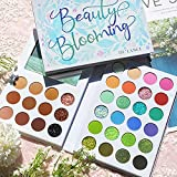 Nude Colorful 2 In 1 Eyeshadow Makeup Palette, Afflano Glitter Matte Shimmer Eye Shadow Pallet, Long Lasting Nude Brown+Pigmented Rainbow Pastel Eye Shade, Bright Green Blue Eyeshadow Palette 36 Color